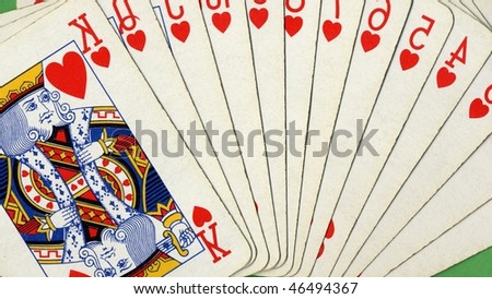 Pocker game of cards with full scale - (16:9 ratio)