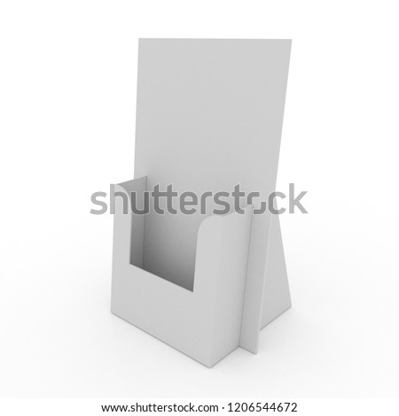 Pocket Counter Display isolated white background - 3D render