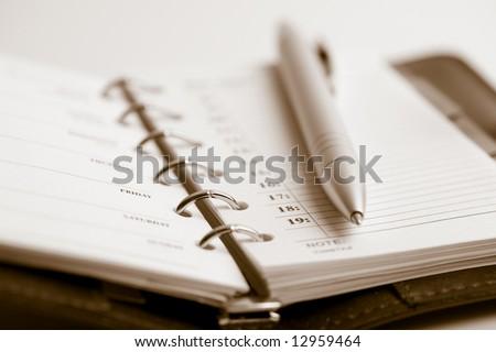 pocket planner and pen