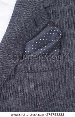 pocket square black texture - handkerchief in the breast pocket of a man\'s suit