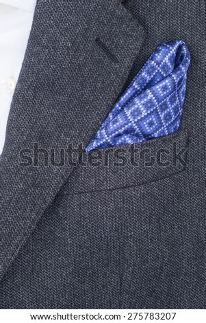 pocket square blue texture - handkerchief in the breast pocket of a man\'s suit