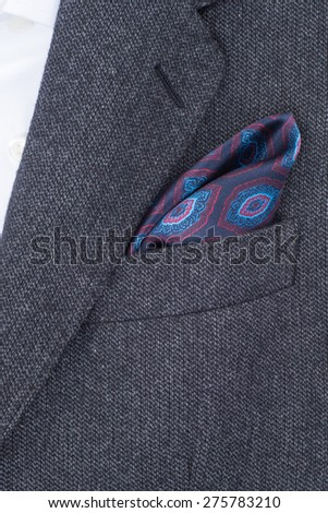 pocket square dark red texture - handkerchief in the breast pocket of a man\'s suit