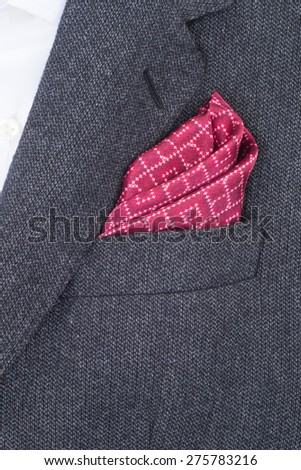 pocket square red texture - handkerchief in the breast pocket of a man\'s suit