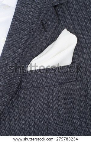 pocket square white texture - handkerchief in the breast pocket of a man\'s suit