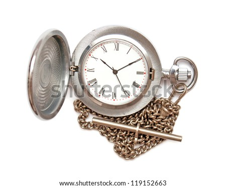 Pocket watch isolated on white background