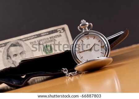 Pocket Watch with Financial Assets