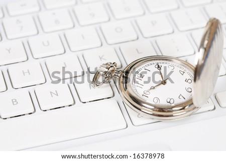 pocket watch with keyboard