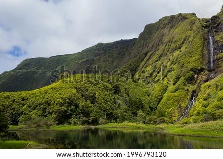 Poco da ribeira do ferreiro, Flores, Azores, Portugal Foto stock ©