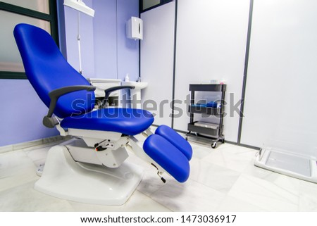 podiatry consultation with blue armchair #1473036917