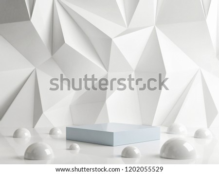 Podium with hipster abstract background composition , 3d render, 3d illustration