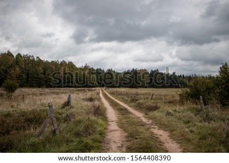 Podlasie region landscapes in October Zdjęcia stock ©
