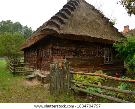 Podlasie wooden houses from the turn of the 19th and 20th centuries Poland, photos were taken in October 2020 Zdjęcia stock ©