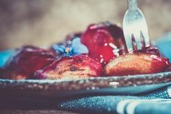 Poffertjes, Holland traditional sweet street food