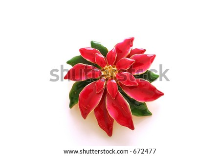 Poinsettia Broach