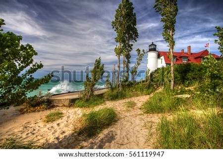 point betsie lighthouse. the...