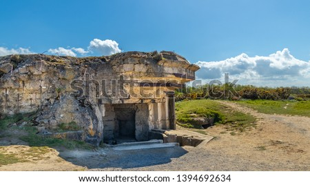point du hoc, France - May 5, 2019: Bunker complex attacked by the 2nd Ranger battalion on June 6 1944.