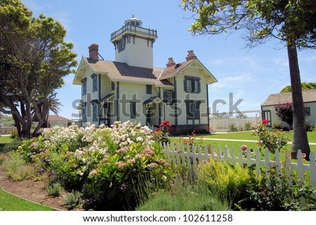 Point Fermin Lighthouse and grounds in southern, California / Lighthouse Grounds