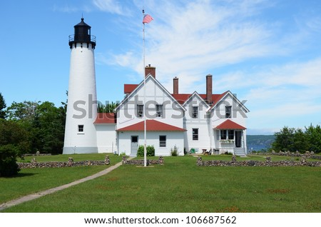 Point Iroquois Lighthouse in the Upper Peninsula of Michigan