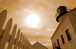 Point Loma Historic Lighthouse in San Diego, California
