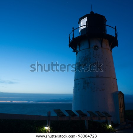 Point Montara Lighthouse at night, California