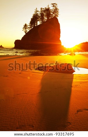 Point of Arches, Olympic National Park, Washington State - stock photo