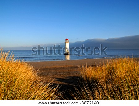 Point of Ayr Lighthouse in Talacre North Wales