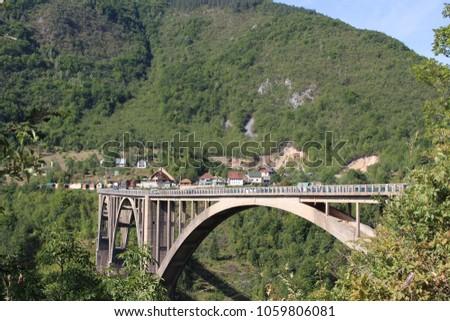 Point of view of the suspension bridge, Canyon of the Tara, Montenegro