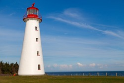 Point Prim Lighthouse, a National Heritage Site, built in 1845, was the first lighthouse on  Prince Edward Island, Canada. The Historic round building is brick and covered with wooden shingles