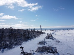 Point Prim Lighthouse on a sunny Winter Day