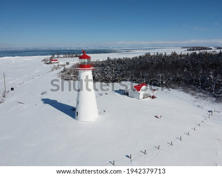 Point Prim Lighthouse on a sunny Winter Day Stock foto ©