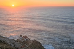 Point Reyes Lighthouse at Sunset in Point Reyes National Seashore in North California, USA