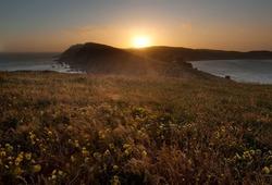 Point Reyes National Seashore, California, at sunset
