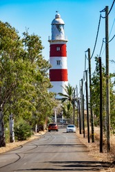 Pointe aux Caves Lighthouse – also known as Albion Lighthouse, is situated in Albion, a village located on the west coast of Mauritius