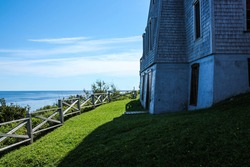 Pointe-à-la-Renommée lighthouse in a perfect summer day