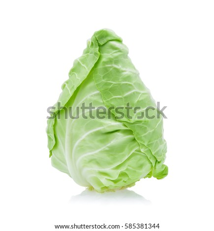 pointed cabbage isolated on white background