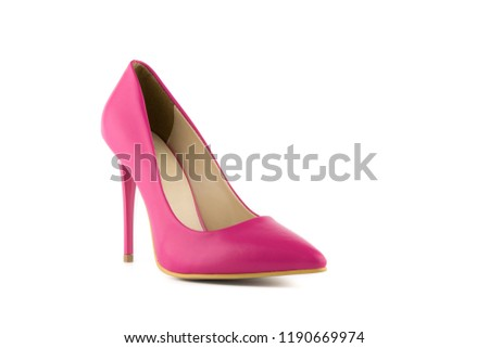 0cf0005e9f1 Ladies pink high heel shoe and a… Stock Photo 383167936 - Avopix.com