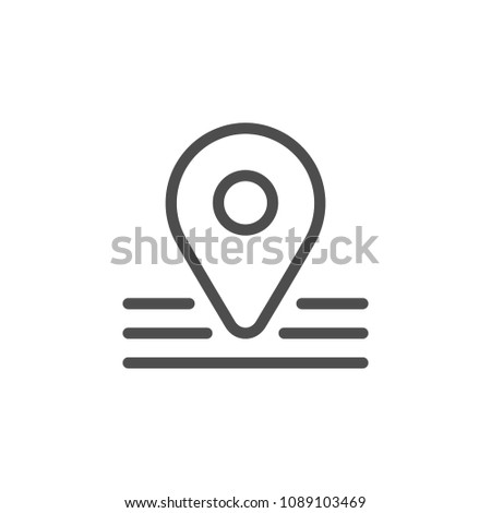 Pointer line icon isolated on white