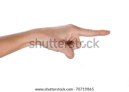 Pointing finger isolated.
