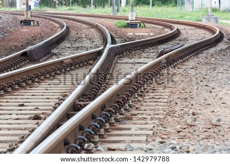 points and curves rail tracks