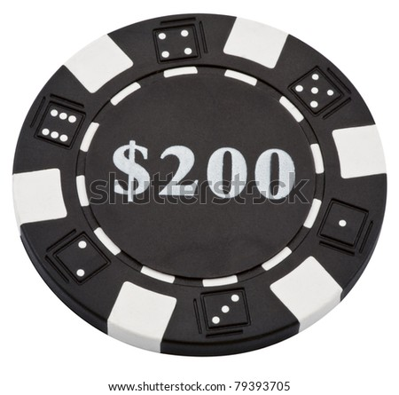 poker chip isolated on a white background