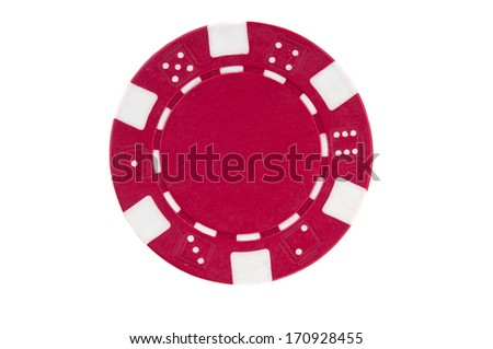 Poker chip on white background