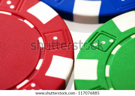 Poker chips close up