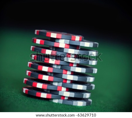"Poker chips trick ""shuffle"" (soft focus)"