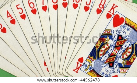 Poker game of cards with full scale - (16:9 ratio)
