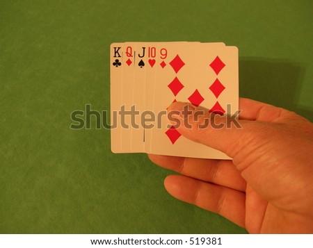 poker hand - straight
