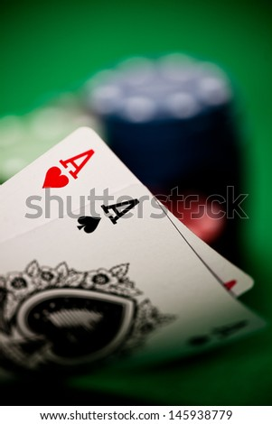 Poker hand with two aces