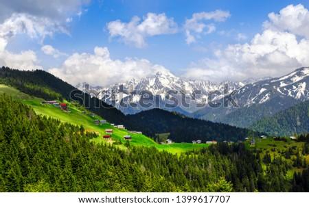 Poku Plateau and Kemerli Khachkar Mountain (Turkey) Stok fotoğraf ©