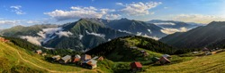 Pokut Plateau Rize Camlihemsin,Pokut plateau in the Black Sea and Turkey. Rize, Turkey.