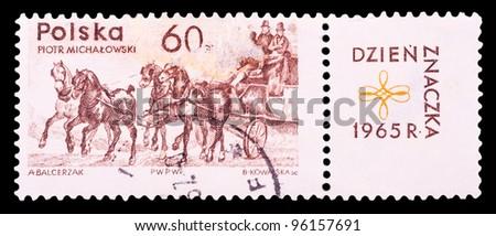POLAND - CIRCA 1965: A stamp printed in Poland shows Piotr Michalowski, circa 1965