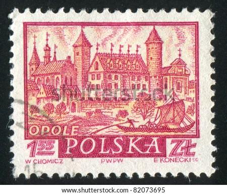 POLAND - CIRCA 1960: stamp printed by Poland, shows Historic Town Opole, circa 1960